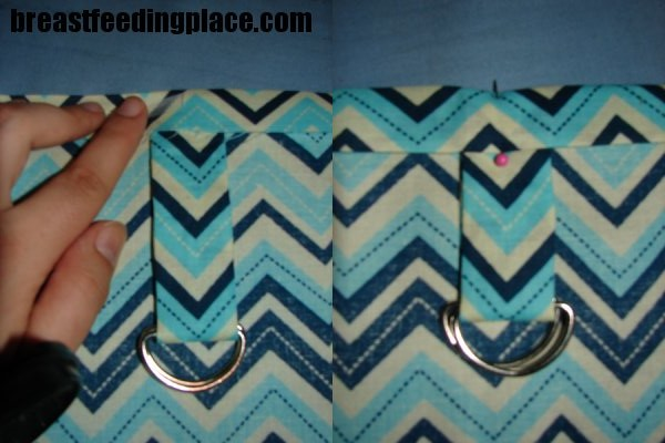 make your own nursing cover - d rings