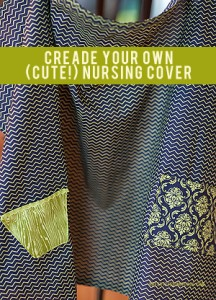 How to Make a Cute Nursing Cover {Nursing Cover Tutorial}   BreastfeedingPlace.com #nursingcover #tutorial #diy #sew